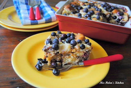 Blueberry Sausage Bake