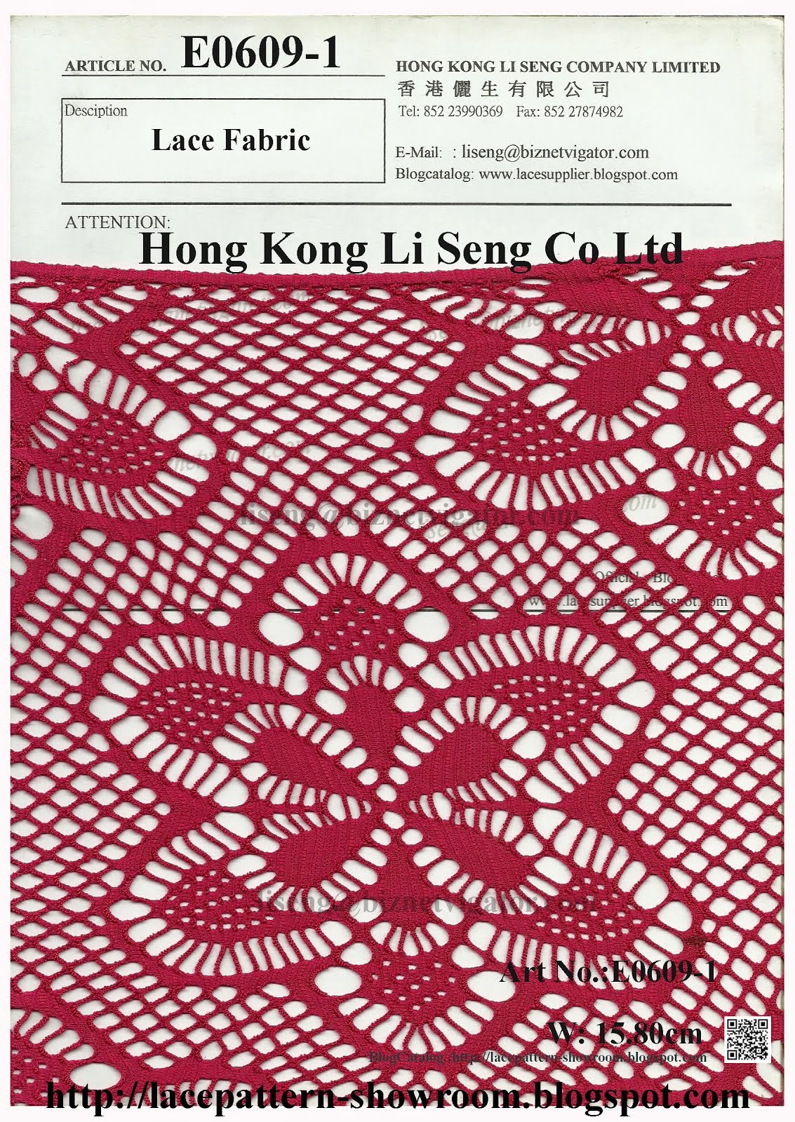 Big Flower Lace Fabric Manufacturer and Supplier - Hong Kong Li Seng Co Ltd