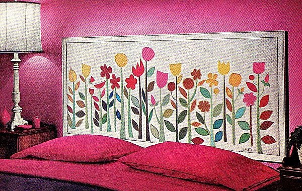 Cabeceros de camas originales ideas para decorar for Puertas pintadas originales