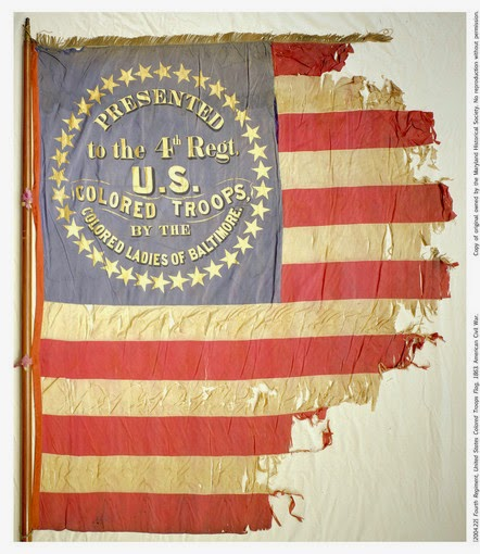 historic flag conservation, repair, restoration, textile conservator, civil war, USCT Maryland