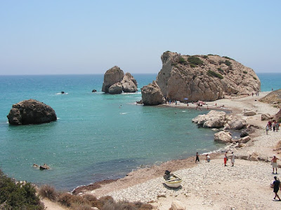 Aphrodite's Rock near Paphos in Cyprus