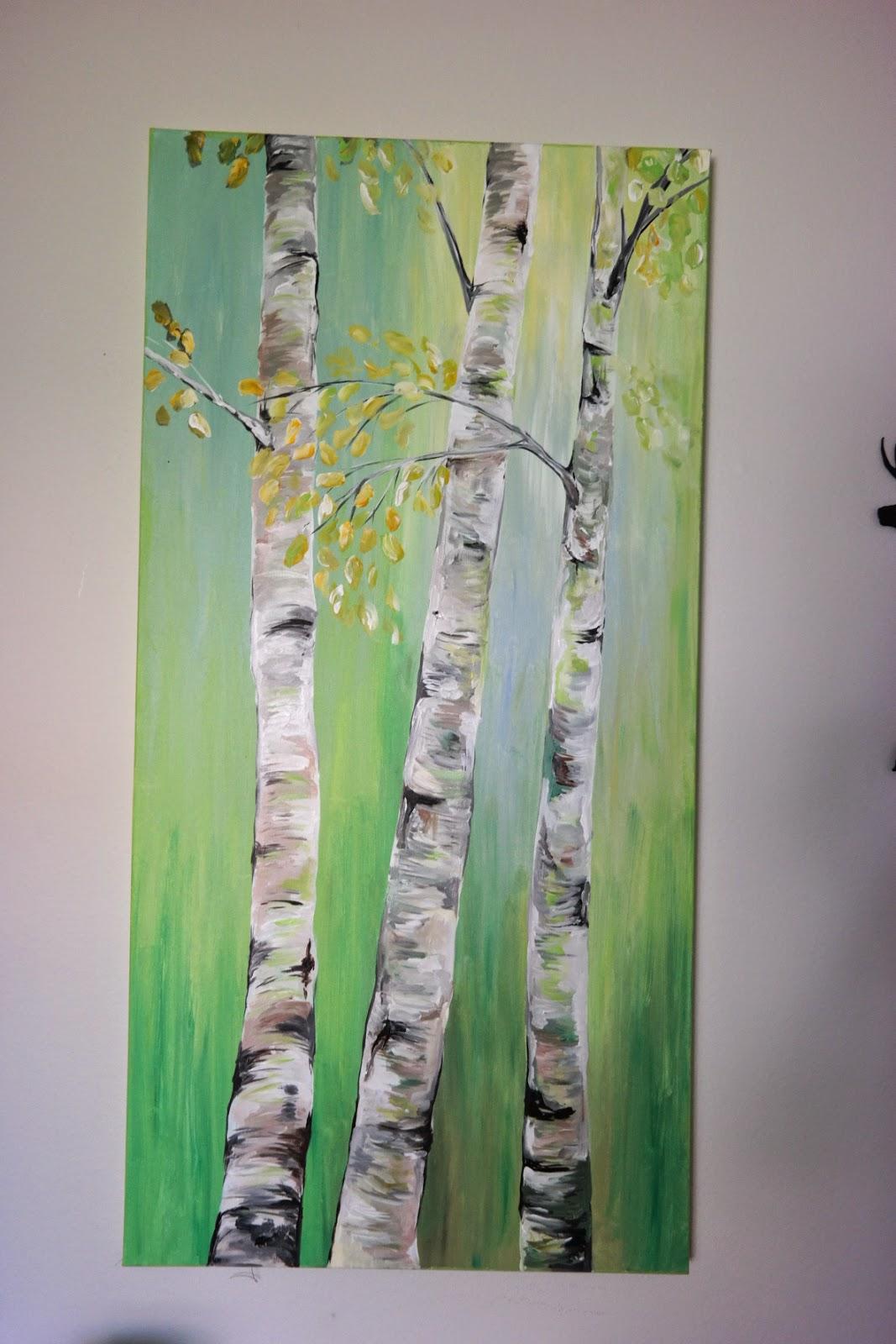 Acryllic Painting Birch Tree