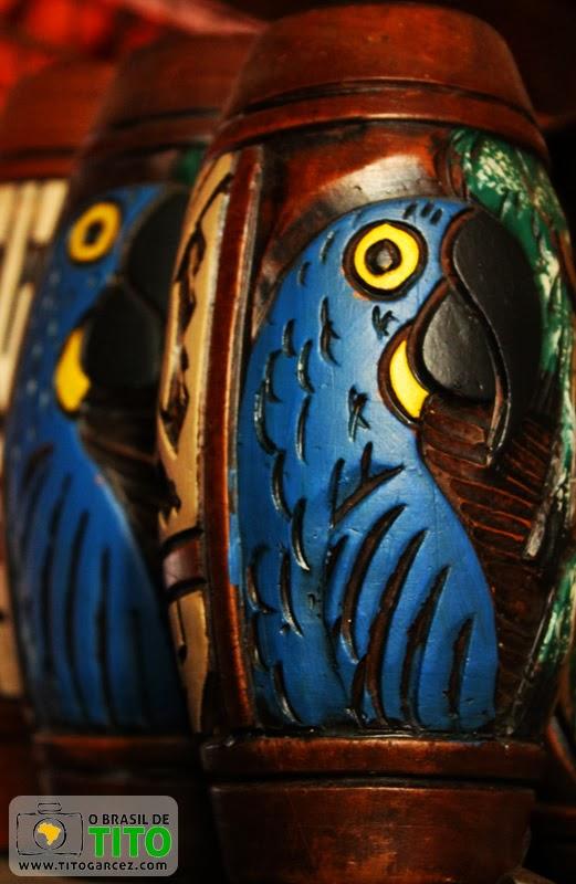 Cerâmica Marajoara fabricada em Icoaraci, em Belém - Pará