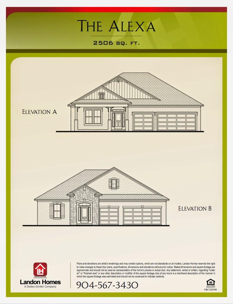 Landon homes featuring the alexa floor plan benton for Landon homes floor plans