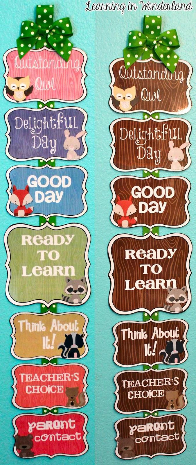 http://www.teacherspayteachers.com/Product/Editable-Behavior-Chart-Woodland-Critters-Edition-1352423