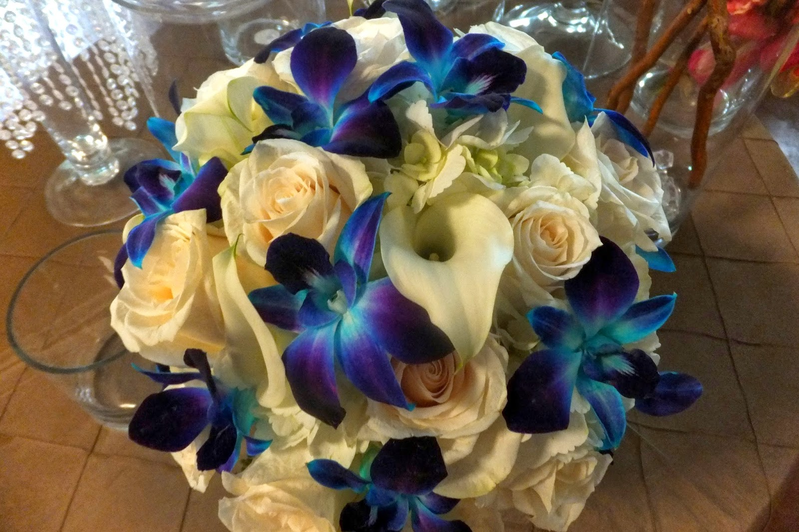 The Blooming Idea Blog – blue & white bridal bouquet