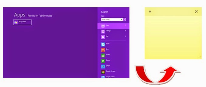 Cara Mengubah Format Text Sticky Note di Windows 8