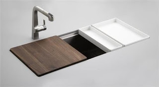 new modern kitchen sink with water filters