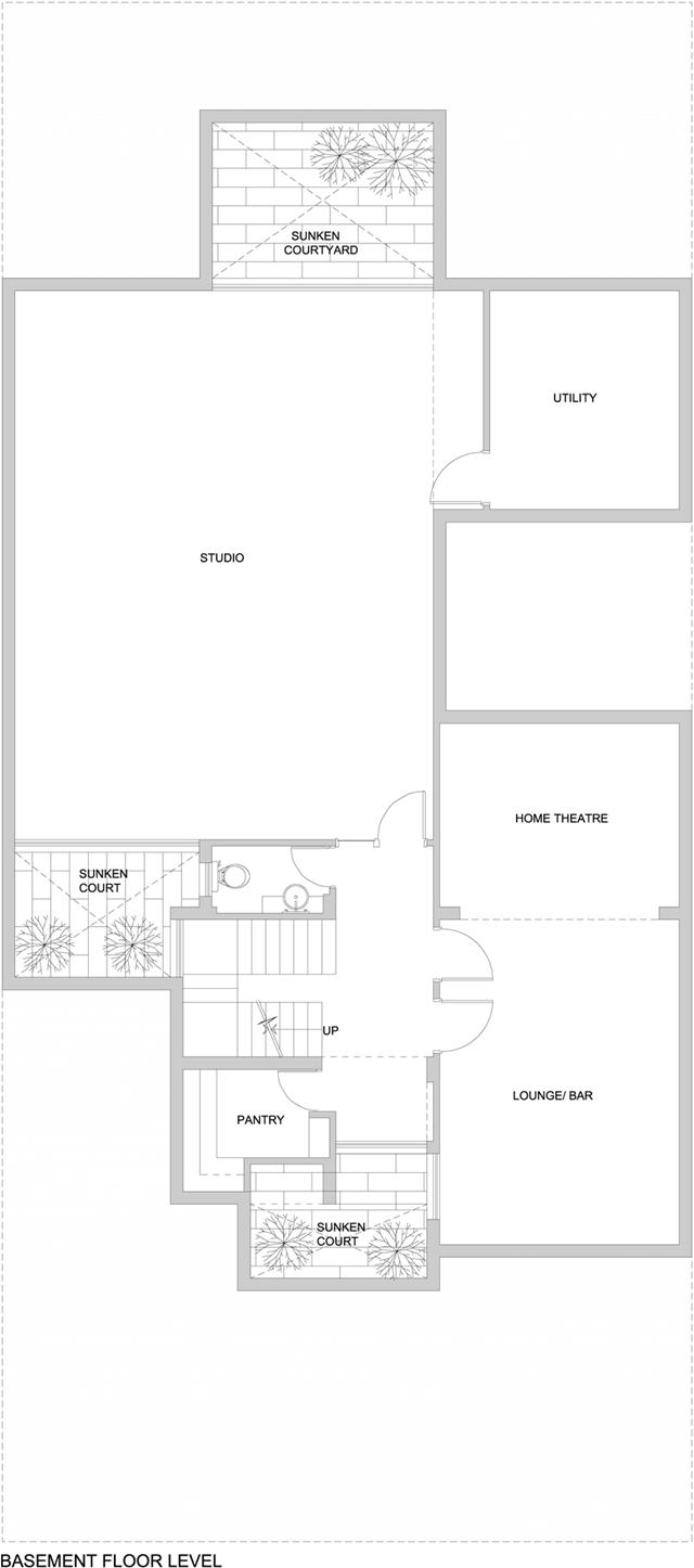Basement floor level floor plan