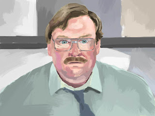 iPad portrait of Stephan Root