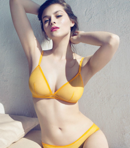 Eres, lingerie, yellow, tulle