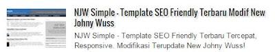Judul Posting Samping Gambar Thumbnail Auto ReadMore