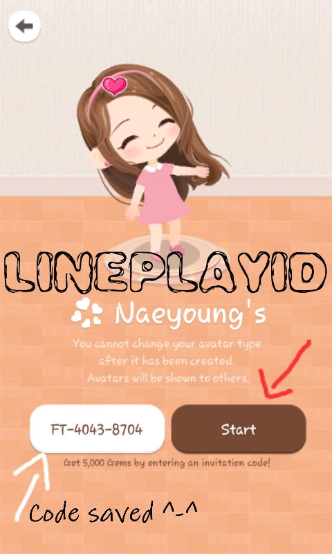 Line play how to enter an invitation code youll receive 10000 gems 5000 gems from line play and 5000 gems from invitation code stopboris Gallery