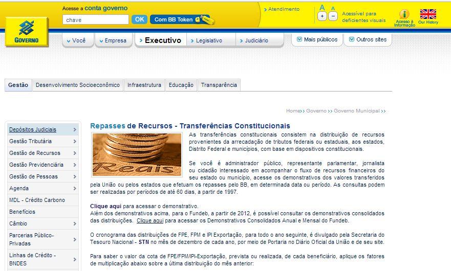 BANCO DO BRASIL / REPASSES