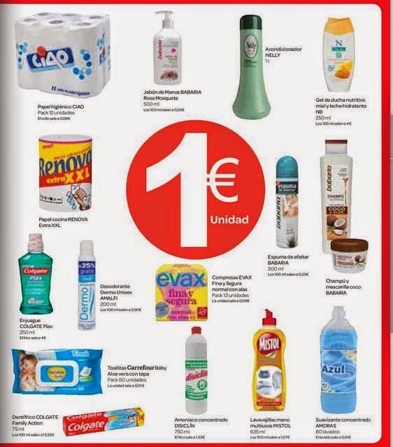 Articulos a 1€ / Carrefour ENE-2015