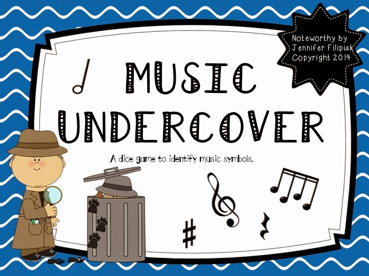 http://www.teacherspayteachers.com/Product/Music-Undercover-A-Dice-Rolling-Game-to-Identify-Notes-and-Music-Symbols-1277457
