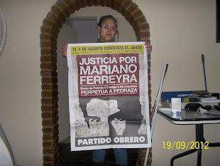 BELÉN RIQUELME, ESTUDIANTE DEL PROFESORADO DE FÍSICA DEL INSTITUTO BOGLIANO, TAMBIÉN PIDE JUSTICIA