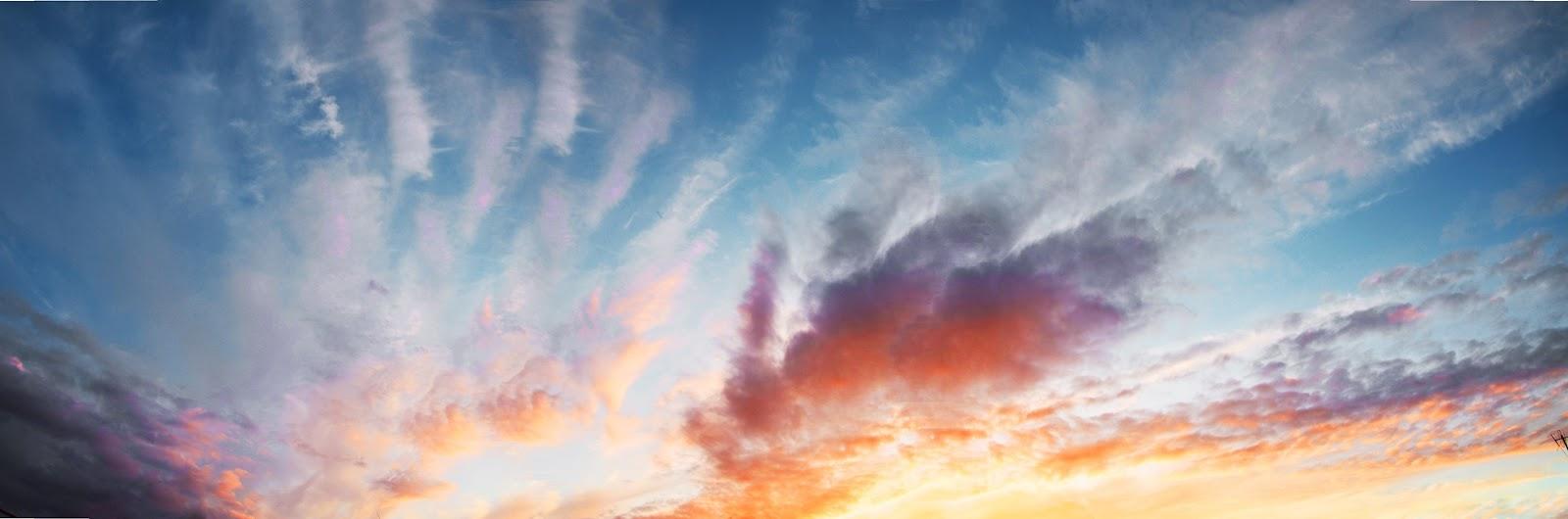 Летний закат. Фотография