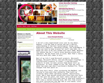 Screenshot of debianvsubuntu.com