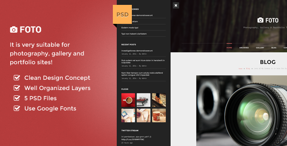 Premium PSD Template for Photography
