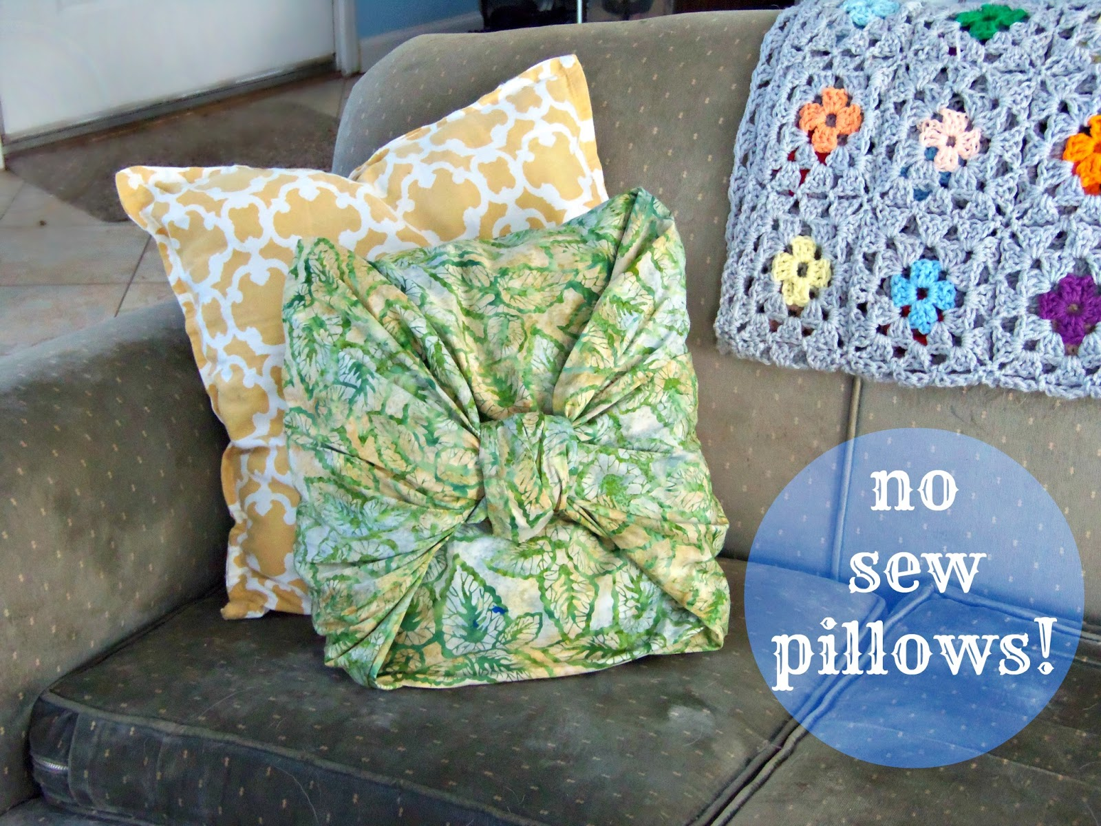 crafty little gnome: Pinterest Tested: No Sew Pillow Covers