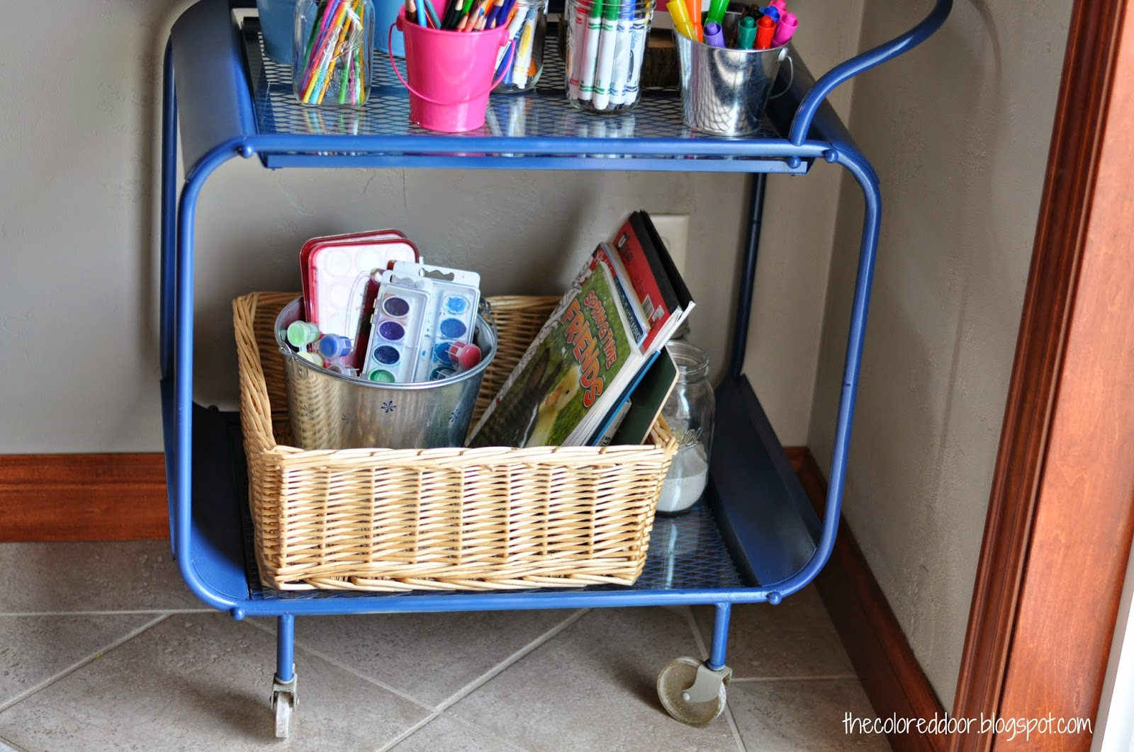 Kids craft cart great for summer craft sessions l  The Colored Door