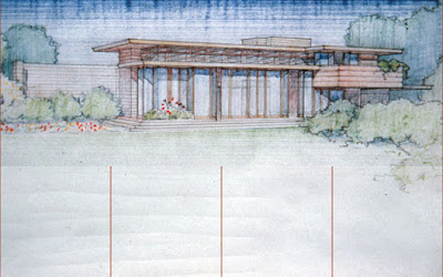 BW_Rendering tulsa tiny stuff frank lloyd wright's bachman wilson house at,Bachman Wilson House Plans