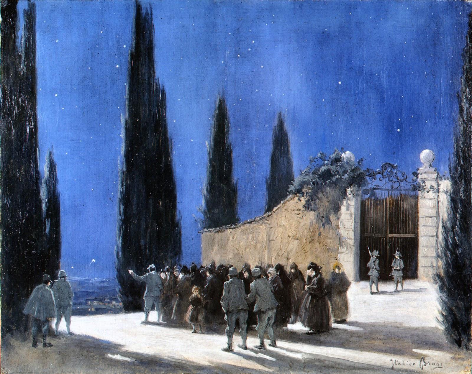 Italico  rass Notturno sul castello di Udine durante un azione agosto