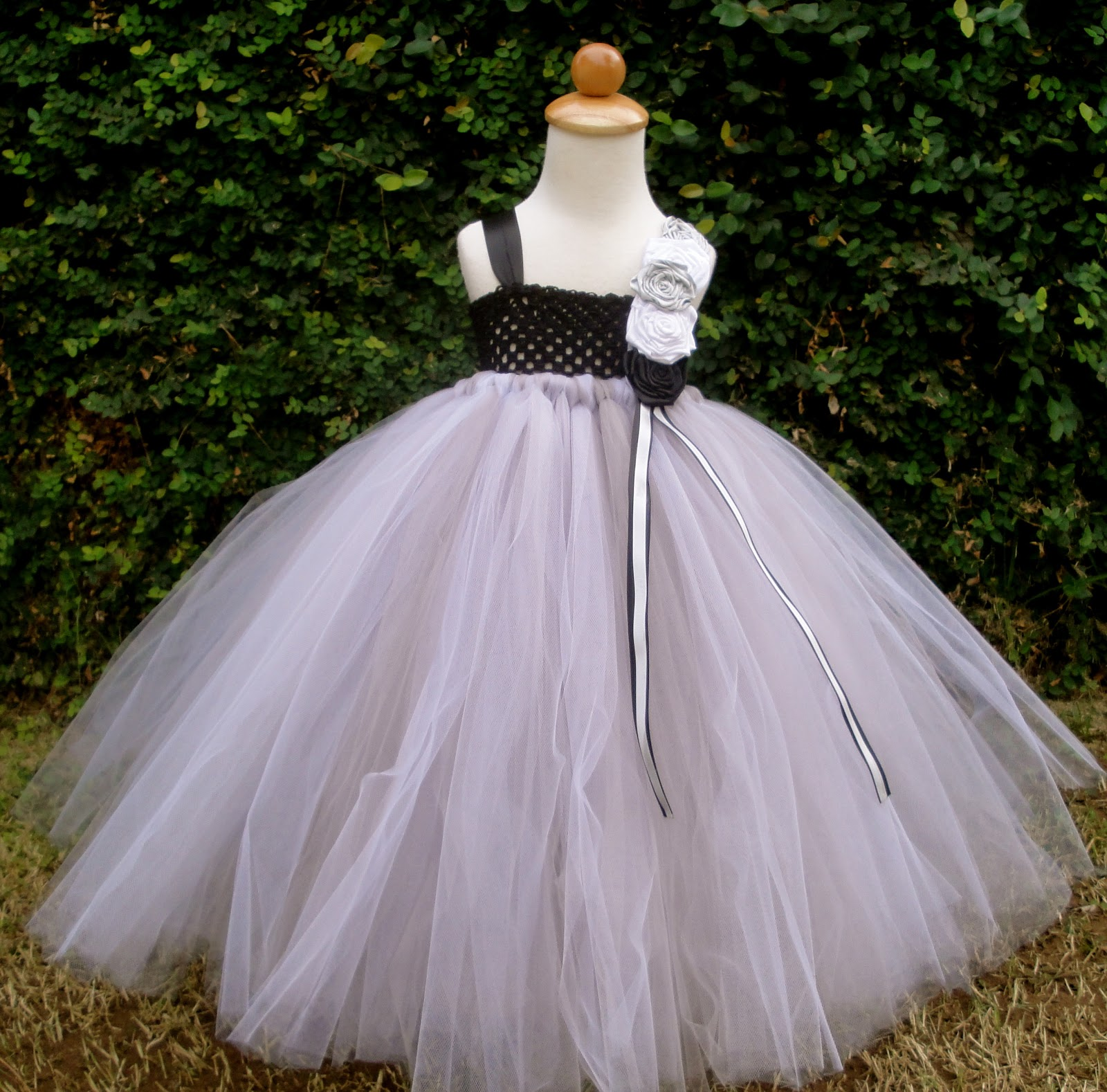 flower girl tutu dresses silver black and white flower girl tutu dress
