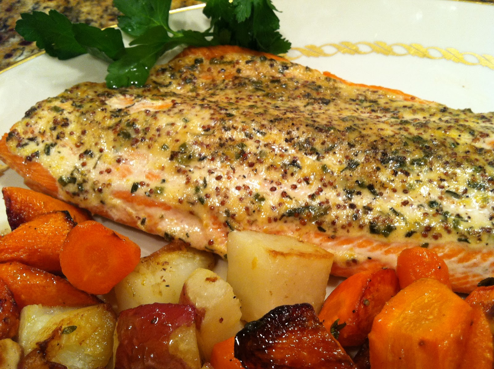... with Chez Cindy: ChezCindy: Roasted Salmon with Spring Herb Sauce