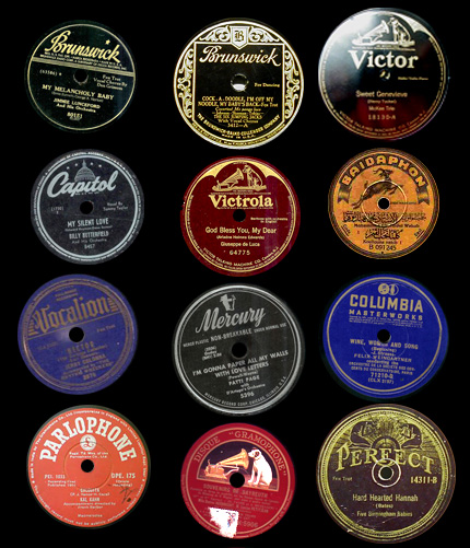 Midnight pine vintage record labels plus for Classic house record labels