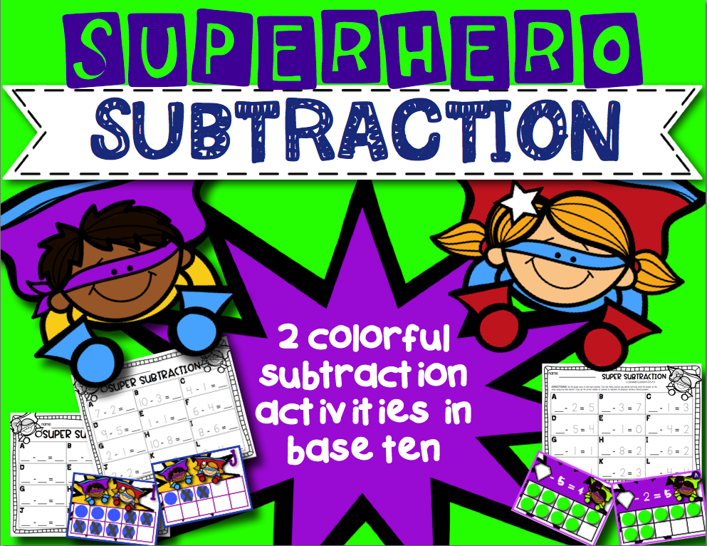 https://www.teacherspayteachers.com/Product/Subtractin-Superheros-Subtraction-Activities-in-Tens-Frames-1673943
