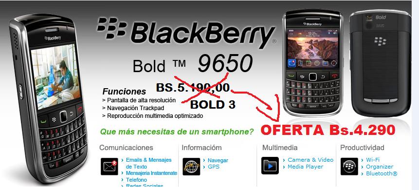 BLACKBERRY BOLD 3 9650
