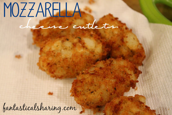 Mozzarella Cheese Cutlets | These babies are like gourmet jumbo tatortots and the perfect side dish to a burger!! #sidedish #potato #recipe #SecretRecipeClub