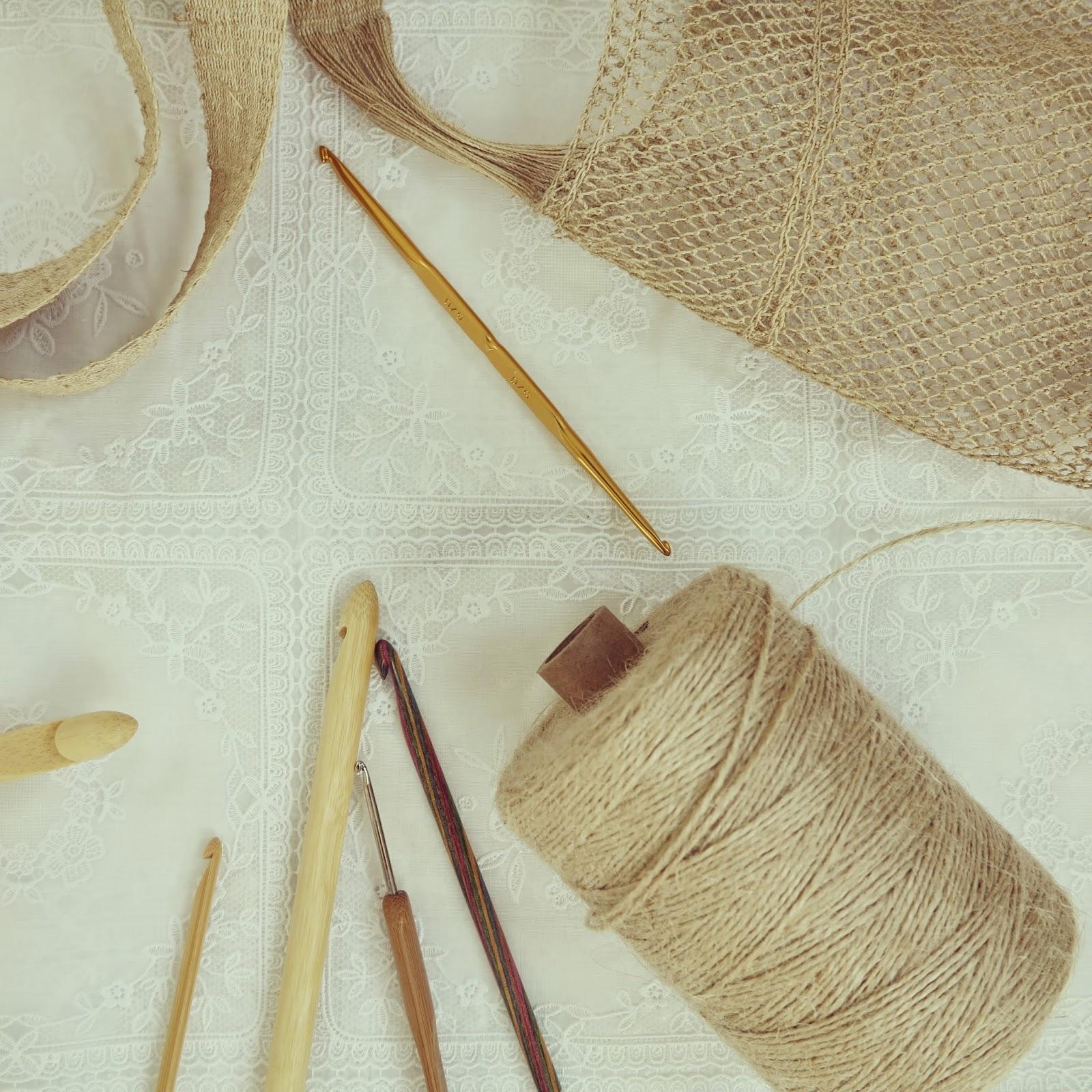 ByHaafner, twine, bamboo, natural fibres, crochet hooks
