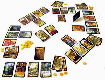 Componentes de Ciudadelas juego de cartas