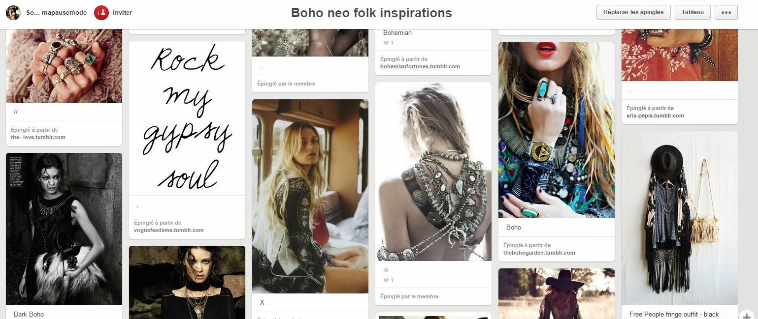 Ma pause mode, blog mode, INSPIRATIONS, look bohème, mode femme, tendances mode femme 2015, printemps 2015, idées looks femme, tendance bohème gipsy, blog Toulouse, Pinterest