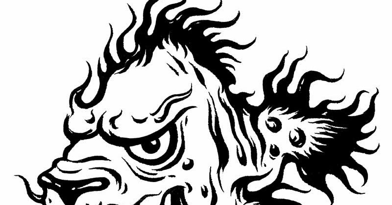 Line Drawing Lion Head : Black panther head roaring fang vector