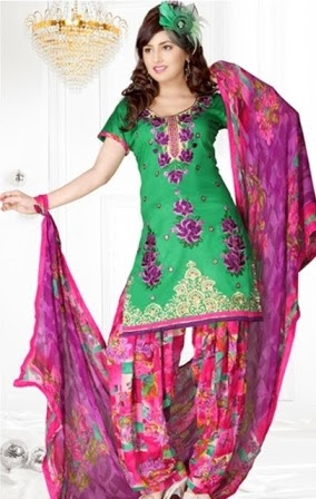 Short Shirt Fashion with Patiala Salwar