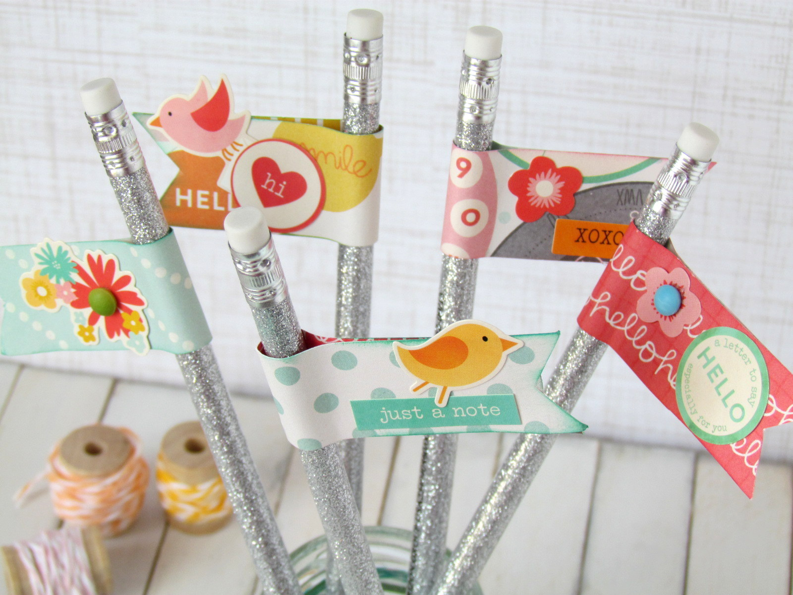 Pennant Pencil Toppers