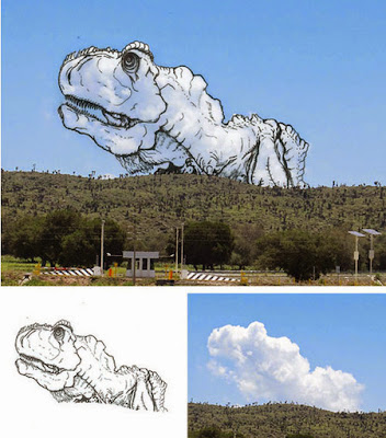 painting on the clouds