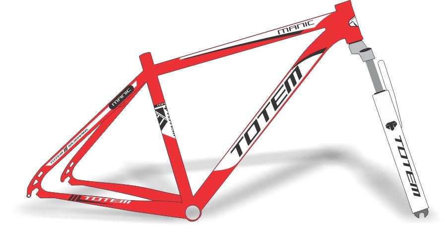 Armario Capsula Masculino ~ Stickers Design Adesivo bike Totem Manic