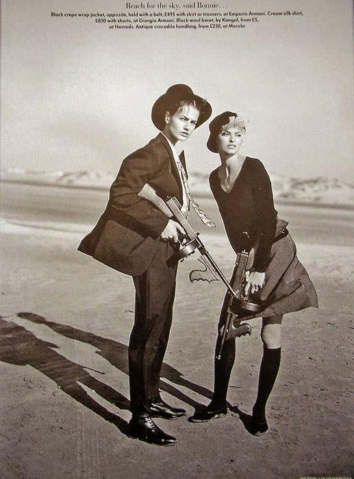 Linda Evangelista, Karen Mulder by Peter Lindbergh for Vogue UK (May 1991)   Ses Rêveries