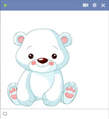 Polar Bear Facebook Sticker
