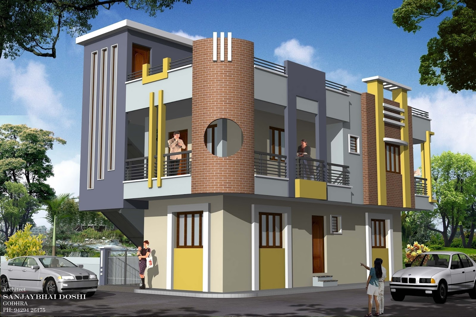 Sweet home design and cute house design rachana architect for Cute house design