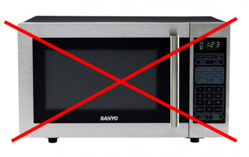 Image result for microwaves are a no no