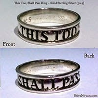 This too, shall pass - Solid Sterling Silver Ring