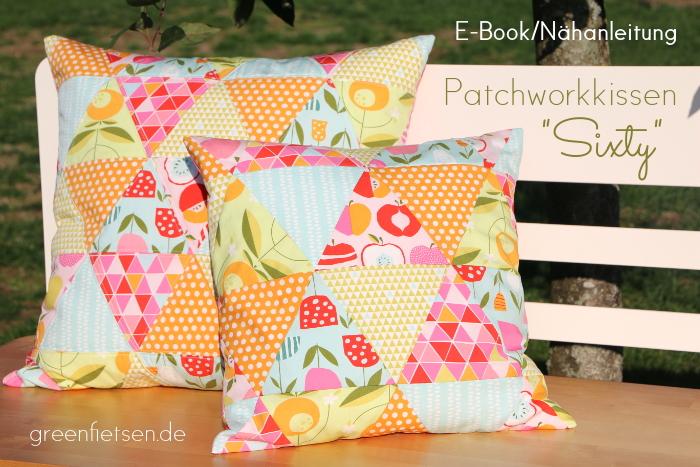 E-Book Sixty - Patchworkkissen aus Dreiecken | Triangle-Kissen