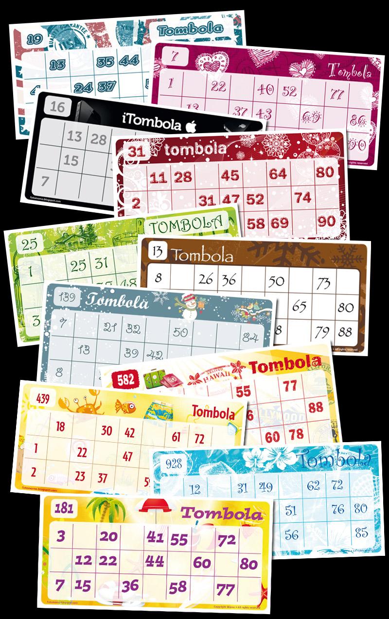 Squarciomomo le cartelle della tombola in pdf pronte da for Cartelle tombola per anziani