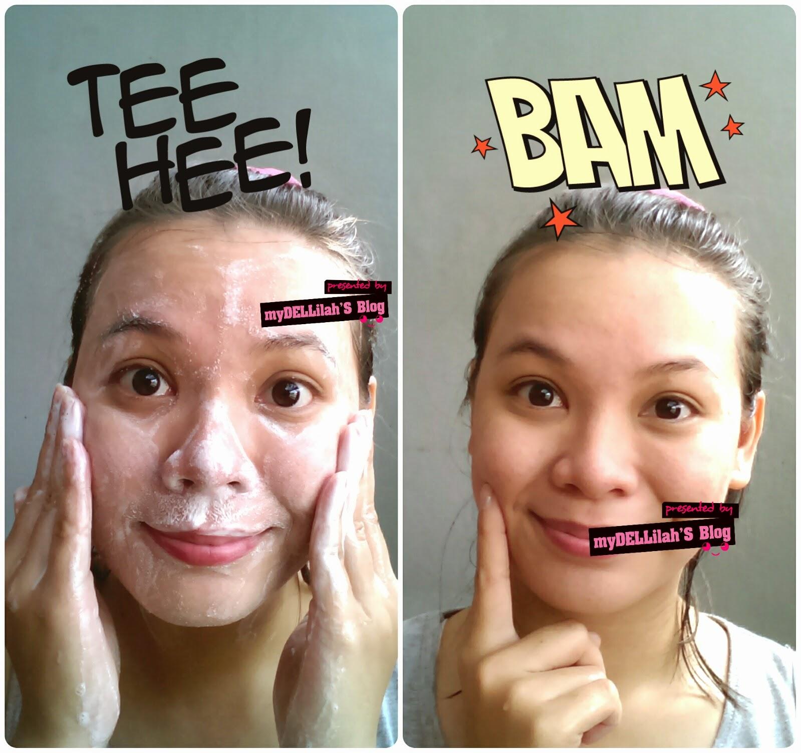 cuci muka dengan facial foam